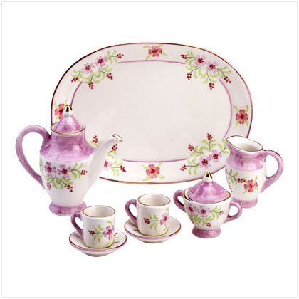 10 Piece Ceramic Floral Tea set