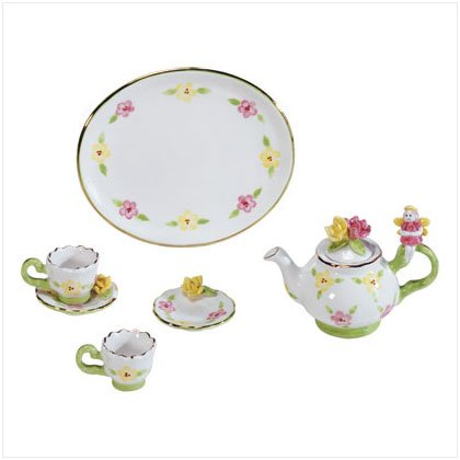 7 Piece Ceramic Fairy Tea Set