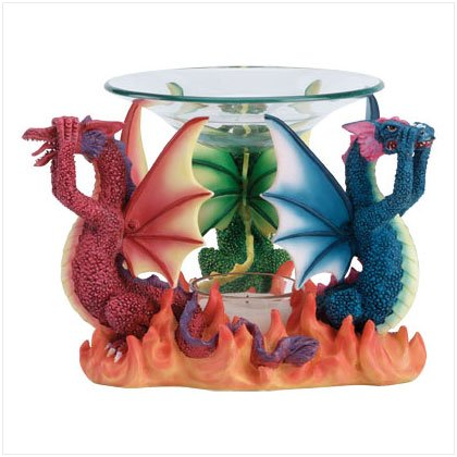 See, Hear, Speak No Evil Dragon Oil Warmer