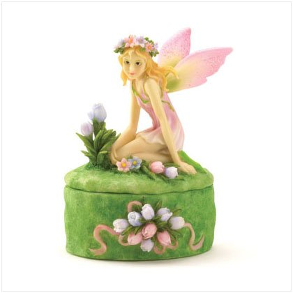 Fairy With Tulips Trinket Box