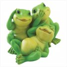Playful See, Hear, Speak No Evil Frogs Figurine