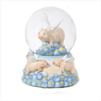 When Pigs Fly Snowglobe