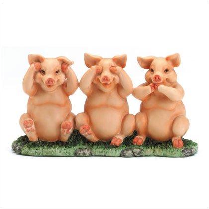 See, Hear, Speak No Evil Piggies Figurine