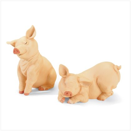 Pig Figurines - Set Of 2