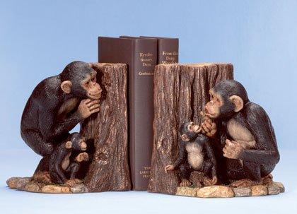 Hide & Seek Monkey Bookends