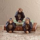 See, Hear, Speak No Evil Monkey Figurines - Set Of 3