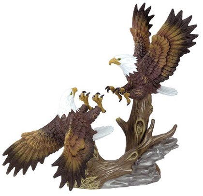 Porcelain Fighting Eagles Figurine