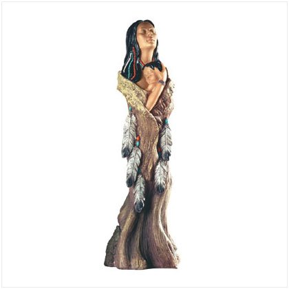 Southwestern Mother & Child Figurine
