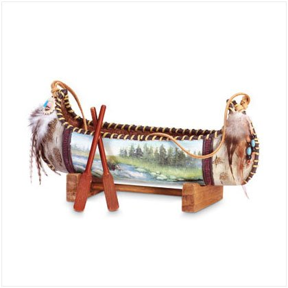 Explorer's Canoe Figurine