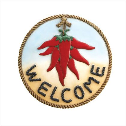 "Hot Chili ""Welcome"" Plaque"
