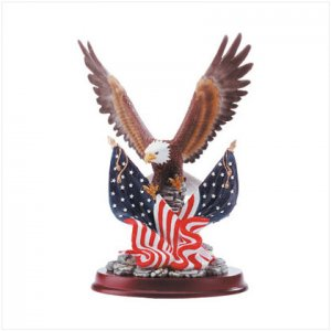 Patriotic Eagle Sculpture