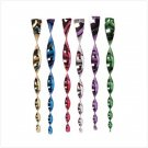 Rainbow Metallic Twirlers - Pack of 6