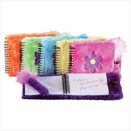6 Pack Assorted Fun Fuzzy Notebooks & Pen Set