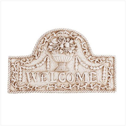 "Flower Basket ""Welcome"" Plaque"