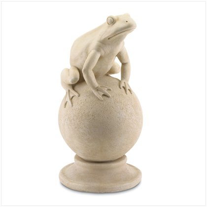 Frog On Ball Sculpture