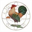 Capiz Rooster Suncatcher