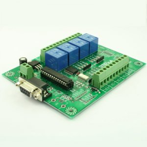 FR88 RS232 Relay Board 8-input/8-output for Microchip PIC16F, 18F, C, VB, LabVIEW