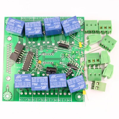 FP08 8 Relay Board Kit for PIC, AVR, 8051, Printer Port VB, LabVIEW