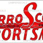 "Serro Scotty 5"" x 12"" Small Decal (Rectangle Shaped), 2 Factories"