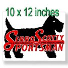 "Serro Scotty 10"" x 12"" Large Decal (Rectangle Shaped)"