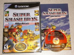 SUPER SMASH BROS MELEE GAMECUBE 100% COMPLETE PLAYS WII