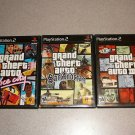 GRAND THEFT AUTO 3 VICE SAN ANDREAS PS2 3 GAME SET
