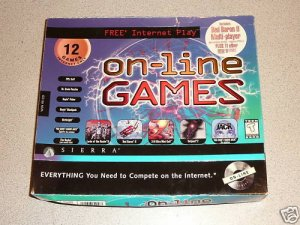 ONLINE GAMES 12 PACK PC BIG BOX RARE SIERRA NEW RARE