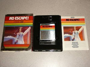 NO ESCAPE 100% COMPLETE ATARI 2600 VERY RARE IMAGIC
