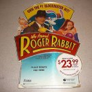 WHO FRAMED ROGER RABBIT VHS STORE DISPLAY 1989 18""