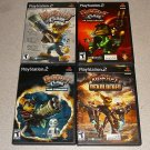 RATCHET CLANK ARSENAL GOING PS2 100% COMPLETE 4 GAMES