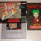 SIMCITY SIM CITY COMPLETE BOXED SUPER NINTENDO SNES