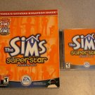 THE SIMS SUPERSTAR GAME AND STRATEGY GUIDE PC CD ROM
