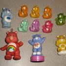 CARE BEARS VINTAGE 80s LOT PVC MINIS STAMPER LOT OF 11