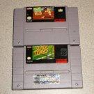 SUPER TENNIS & AMAZING TENNIS SUPER NINTENDO SNES 2 GMS