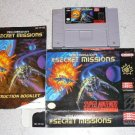 WING COMMANDER SECRET MISSION BOXED SUPER NINTENDO SNES