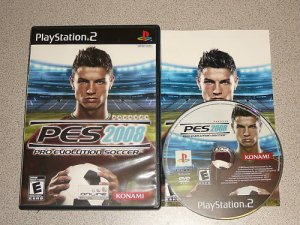 PRO EVOLUTION SOCCER 2008 PS2 PLAYSTATION 2 COMPLETE
