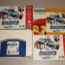MADDEN FOOTBALL 2001 NFL N64 NINTENDO 64 COMPLETE BOXED
