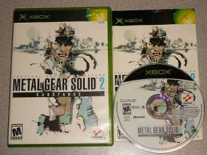 METAL GEAR SOLID 2 SUBSTANCE MATURE XBOX 100% COMPLETE