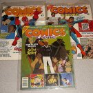 COMICS SCENE MAGAZINE LOT 3 7 8 & STARLOG 134 4 MAGS