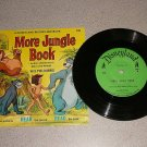 MORE JUNGLE BOOK DISNEY VERY NICE 1/3 RPM RECORD BOOK