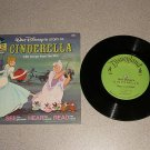 CINDERELLA VERY NICE 1/3 RPM RECORD BOOK SET LP DISNEY