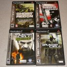 SPLINTER CELL GHOST SIX PS2 4 GAMES COLLECTION MATURE