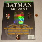 BATMAN RETURNS OFFICIAL COLLECTOR'S MAGAZINE HOLOGRAM