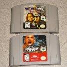 WCW VS NWO WWE WWF MAYHEM 2 GAMES N64 NINTENDO 64