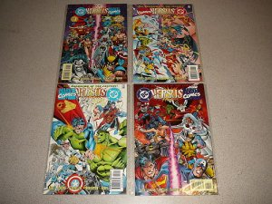 DC VERSUS MARVEL COMICS 1-4 COMPLETE WITH PROMO ITEMS