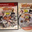 NARUTO ULTIMATE NINJA 3 UZUMAKI CHRONICLES PS2 3 GAMES