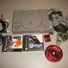 PLAYSTATION PS1 SYSTEM CONTROLLERS GAMES 7501 WORKING