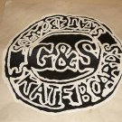 "G&S SKATEBOARD PATCH IRON ON 12"" DIAMETER VINTAGE RARE"