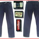 "Vintage LEVI'S 1999 RED LINE COLLECTION CUFFED ""LOT 53"" SELVAGE DENIM Jeans size 13 - W34 L33"