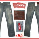 """$59.50 LEVI'S 514 SLIM STRAIGHT """"COAST"""" FADED LIGHT BLUE JEANS W29 L32"""